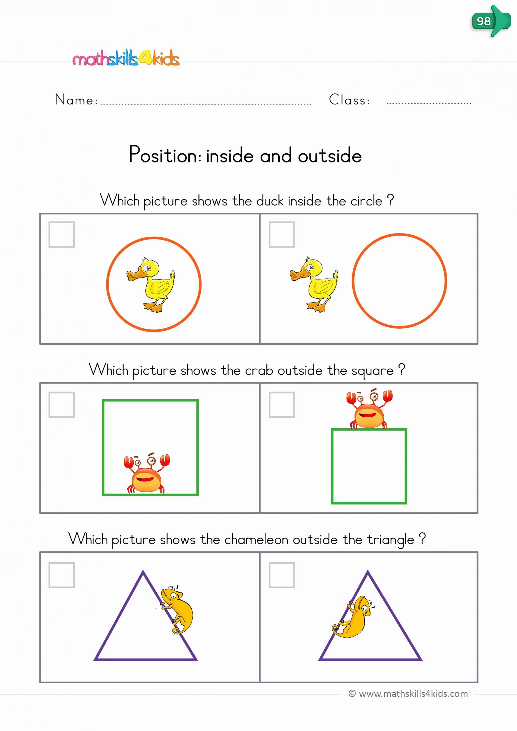 Positional Words Preschool Worksheets Beautiful Position Worksheets for Kindergarten