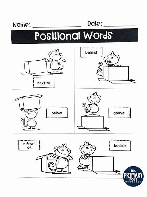 Positional Words Preschool Worksheets Beautiful Positional Words