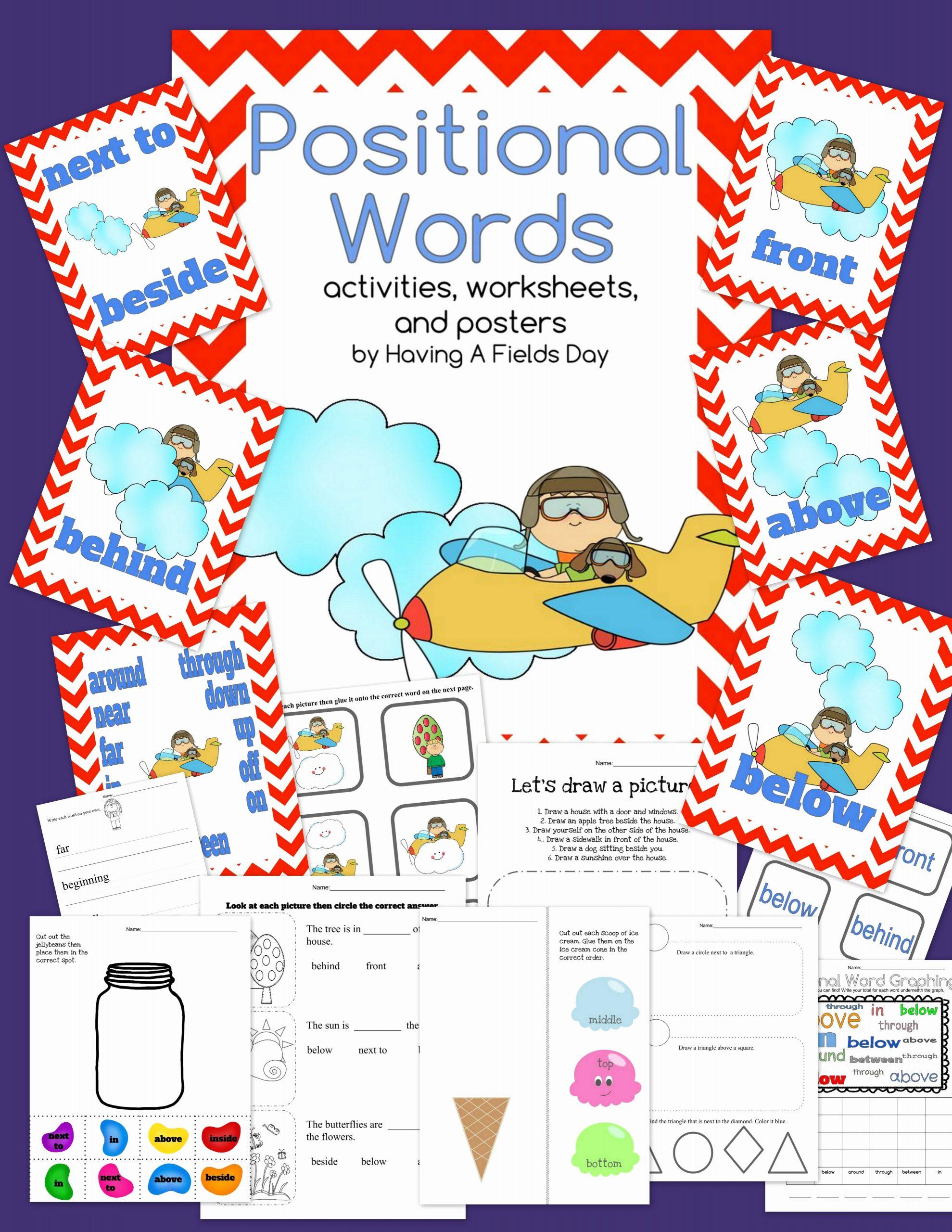 Positional Words Preschool Worksheets Beautiful Positional Words Placement Words Boom Cards and