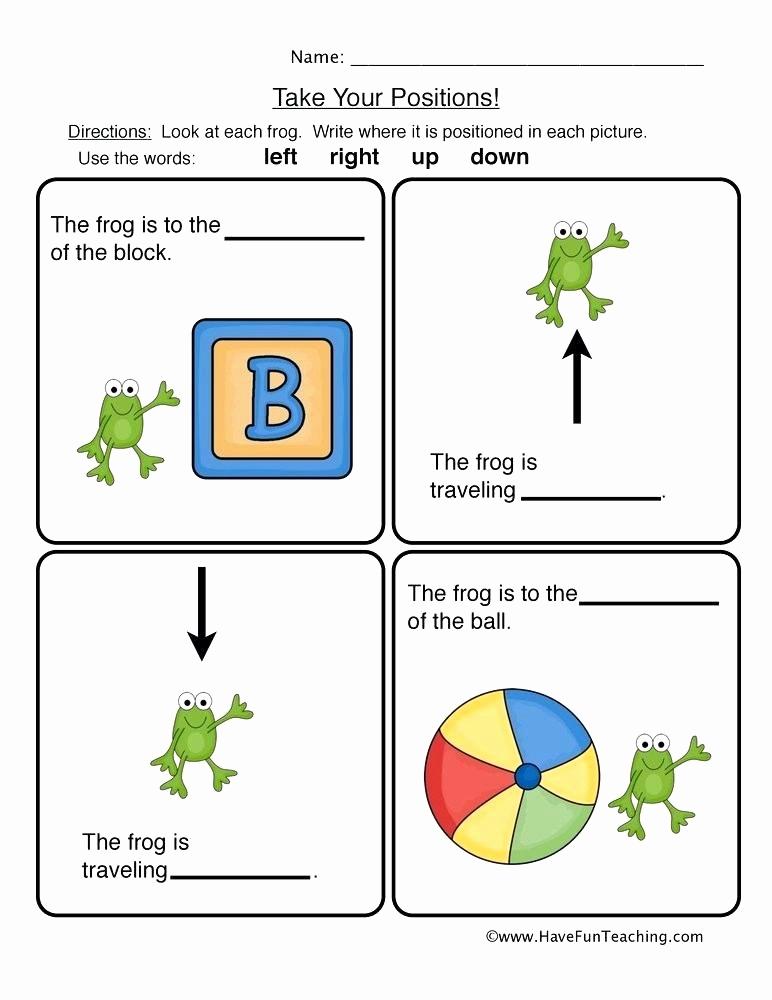 Positional Words Preschool Worksheets Lovely 25 Positional Words Worksheets Kindergarten