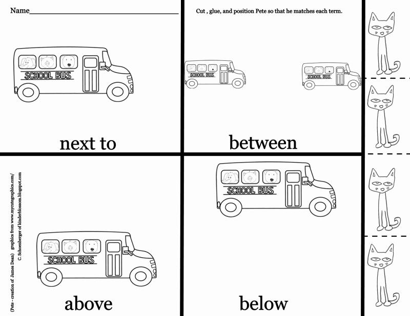 Positional Words Worksheets for Preschool Luxury Positional Pete Pdf Google Drive