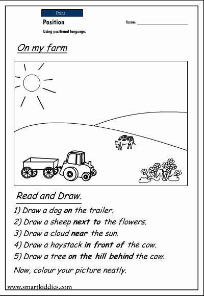 Positional Words Worksheets for Preschool New 15 Best Of Free Positional Worksheets for
