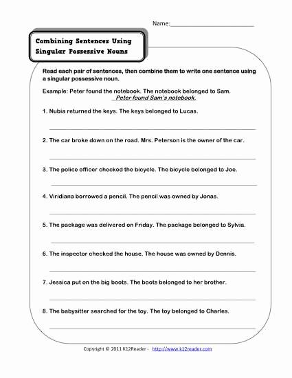 Possessive Pronouns Worksheet 2nd Grade Beautiful 20 Possessive Pronouns Worksheet 2nd Grade