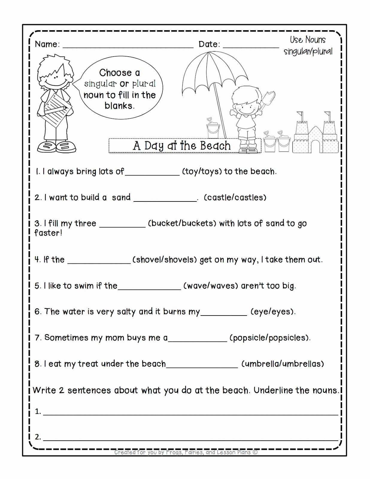 Possessive Pronouns Worksheet 2nd Grade New 20 Possessive Nouns Worksheet 2nd Grade