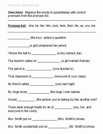 Possessive Pronouns Worksheet 3rd Grade Lovely 3rd Grade Grade 3 Possessive Pronouns Worksheet