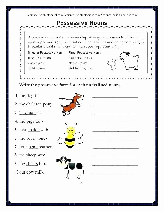 Possessive Pronouns Worksheet 5th Grade Inspirational 25 Possessive Pronouns Worksheet 5th Grade