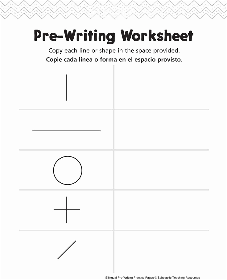 Pre Writing Worksheets Free Awesome 85 Best Pre Writing Activities Images On Pinterest