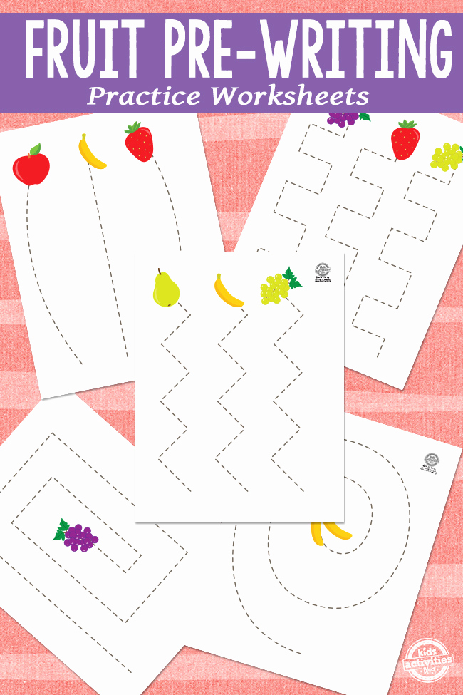 Pre Writing Worksheets Free Elegant Fruit Pre Writing Practice