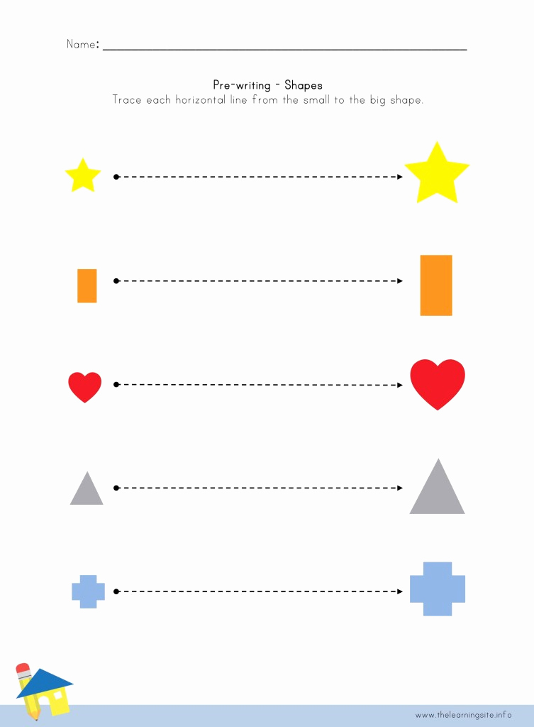 Pre Writing Worksheets Free Fresh Shape Pre Writing Worksheet 1 – the Learning Site