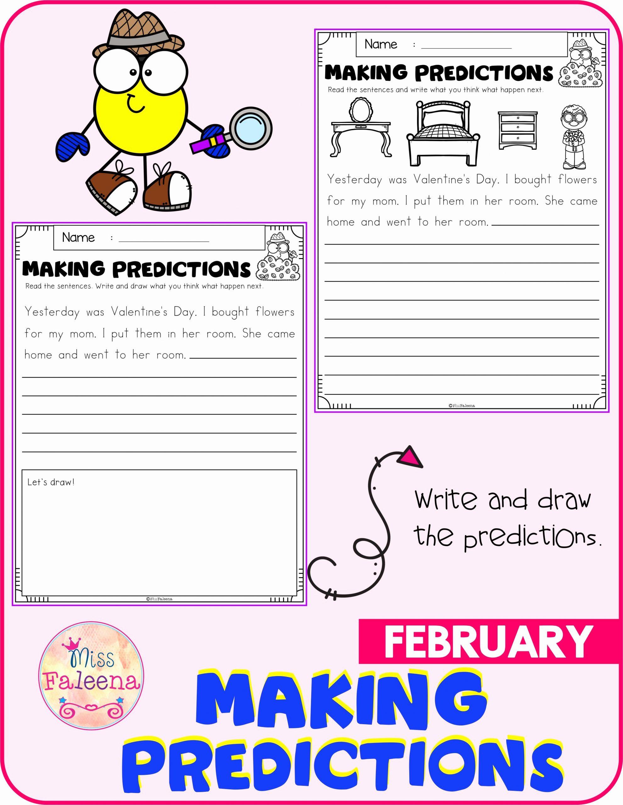 Prediction Worksheets for 3rd Grade Elegant February Making Predictions