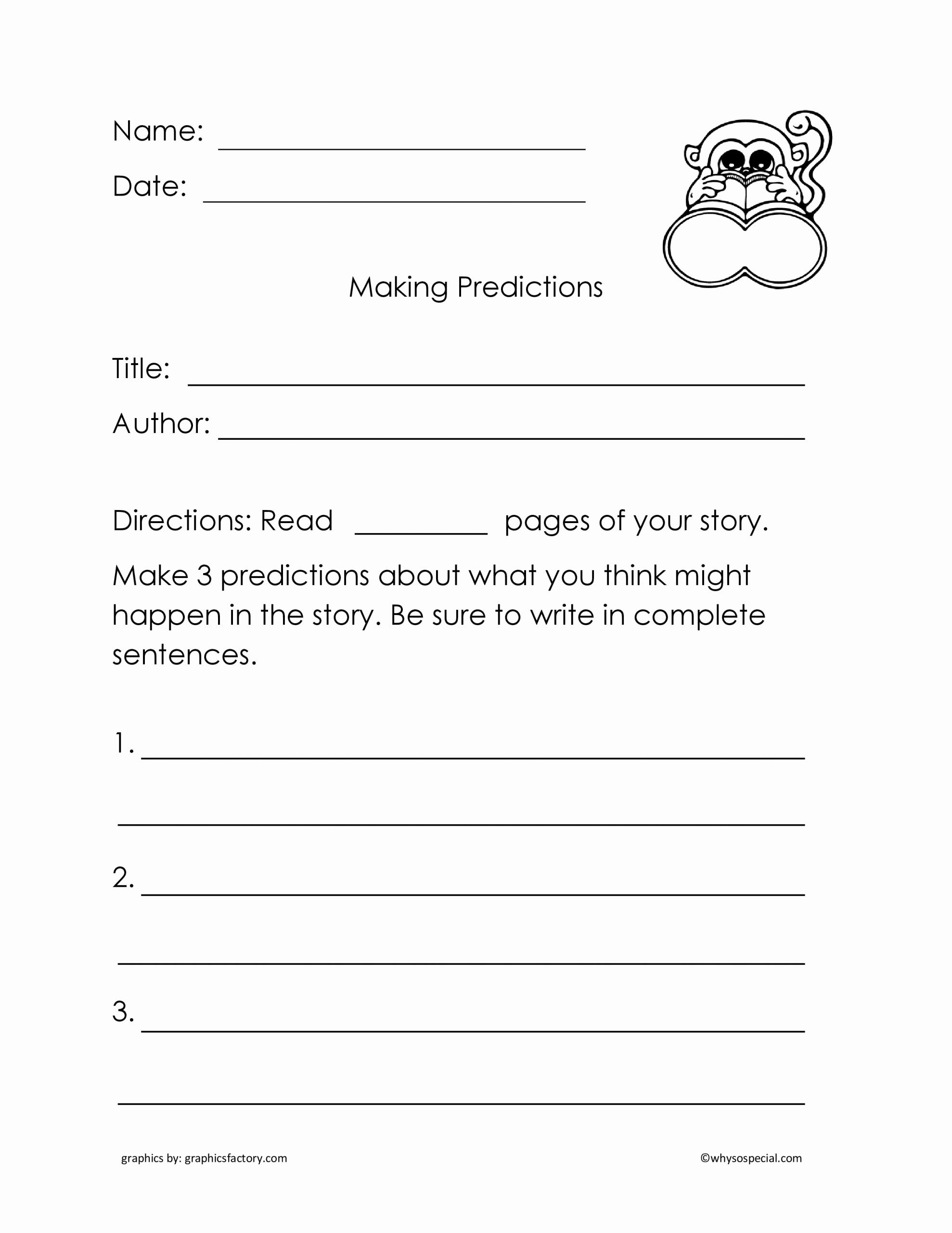 Prediction Worksheets for 3rd Grade Lovely Making Predictions Worksheets 3rd Grade