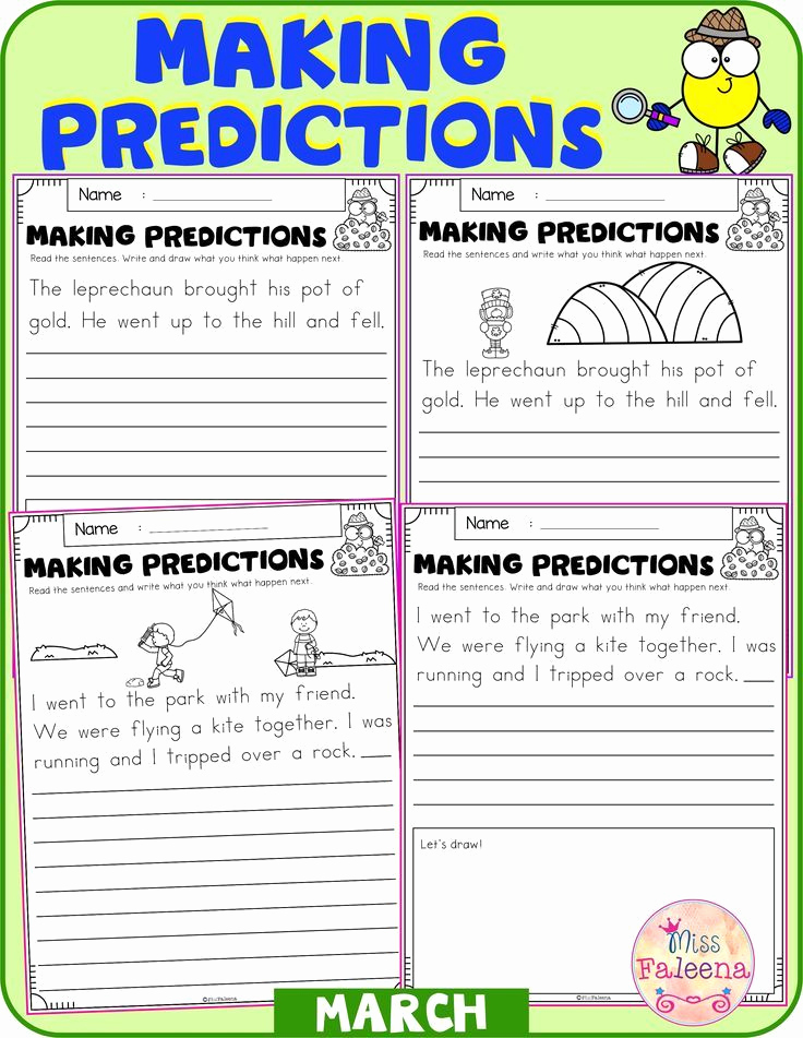 Prediction Worksheets for 3rd Grade Lovely March Making Predictions