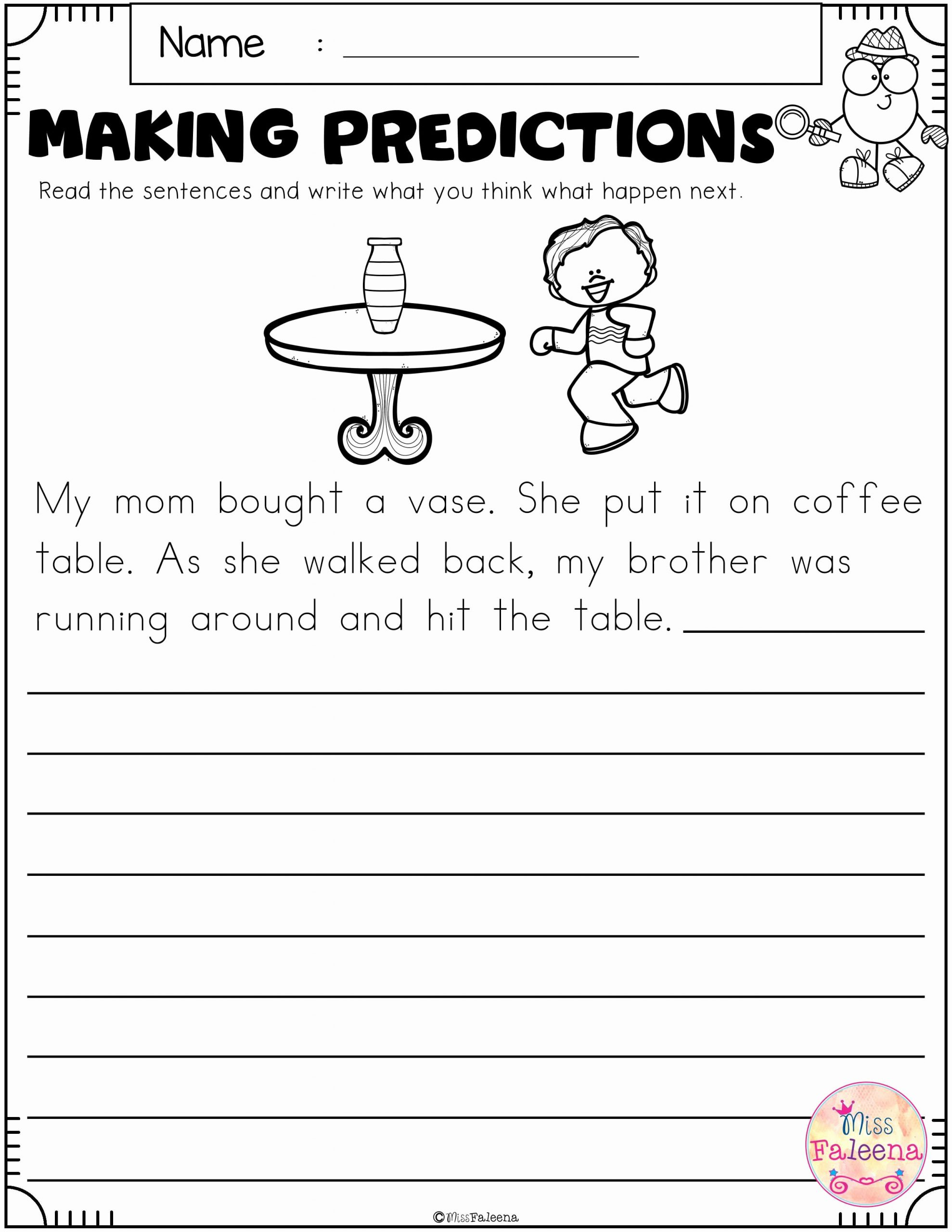 Prediction Worksheets for 3rd Grade Luxury Free Making Predictions with Images