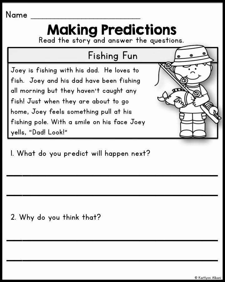 Prediction Worksheets for 3rd Grade Luxury Making Predictions Worksheets