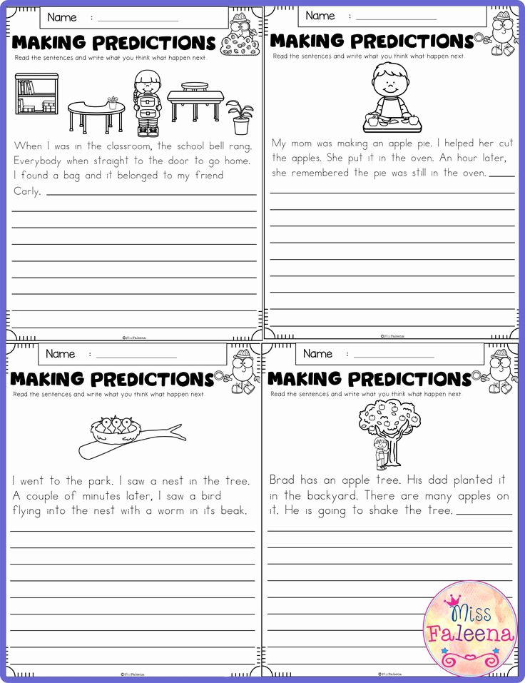 Prediction Worksheets for 3rd Grade New September Making Predictions In 2020 with Images