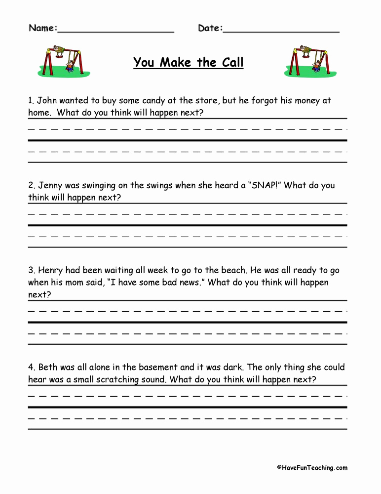 Predictions Worksheets 1st Grade Awesome Predictions Worksheets
