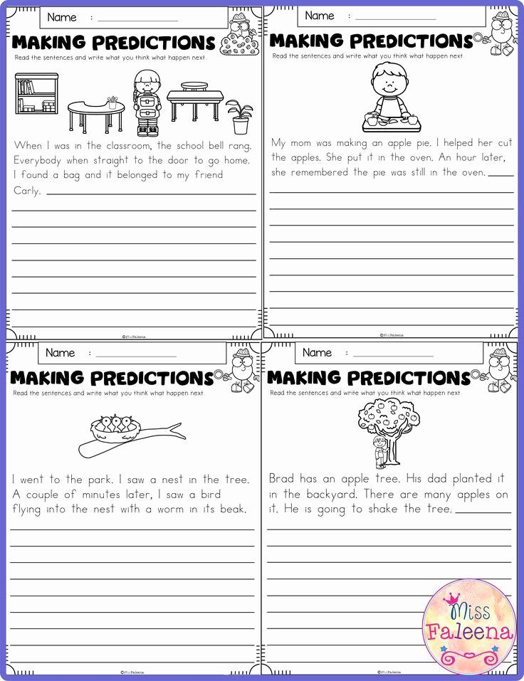 Predictions Worksheets 1st Grade Luxury September Making Predictions