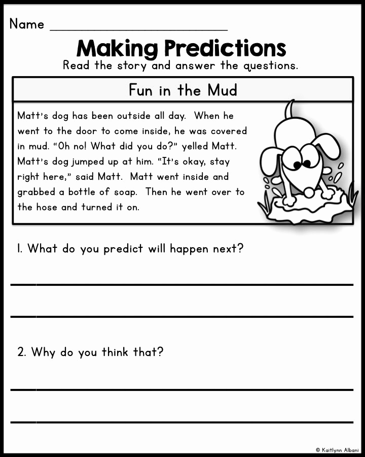 Predictions Worksheets 1st Grade New 118 Best Predicting Images On Pinterest