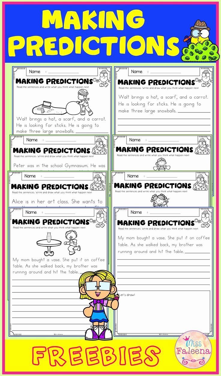 Predictions Worksheets 1st Grade New Free Making Predictions