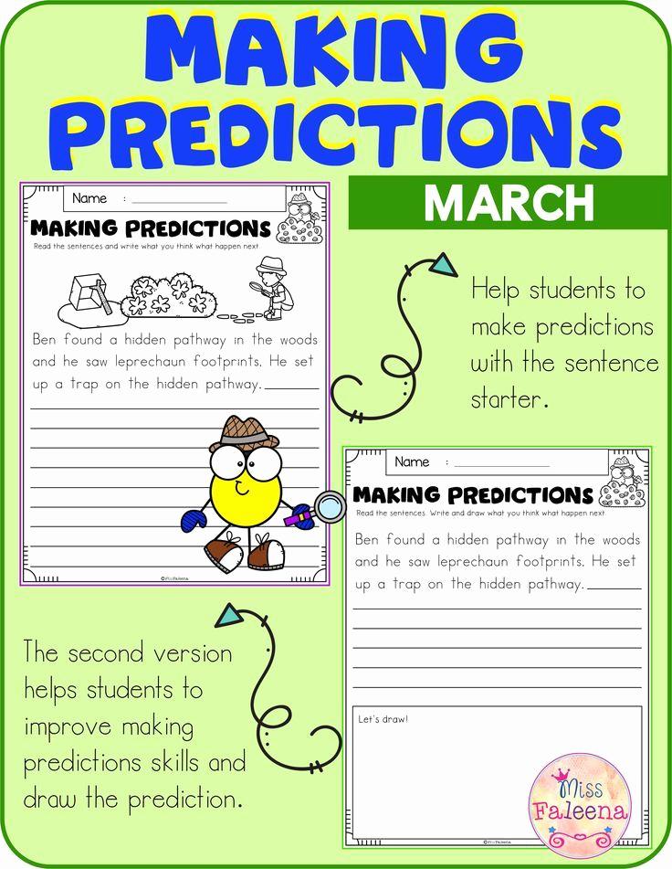 Predictions Worksheets 1st Grade Unique March Making Predictions