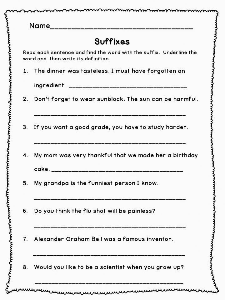Prefix Suffix Worksheets 3rd Grade Elegant 3rd Grade Worksheets