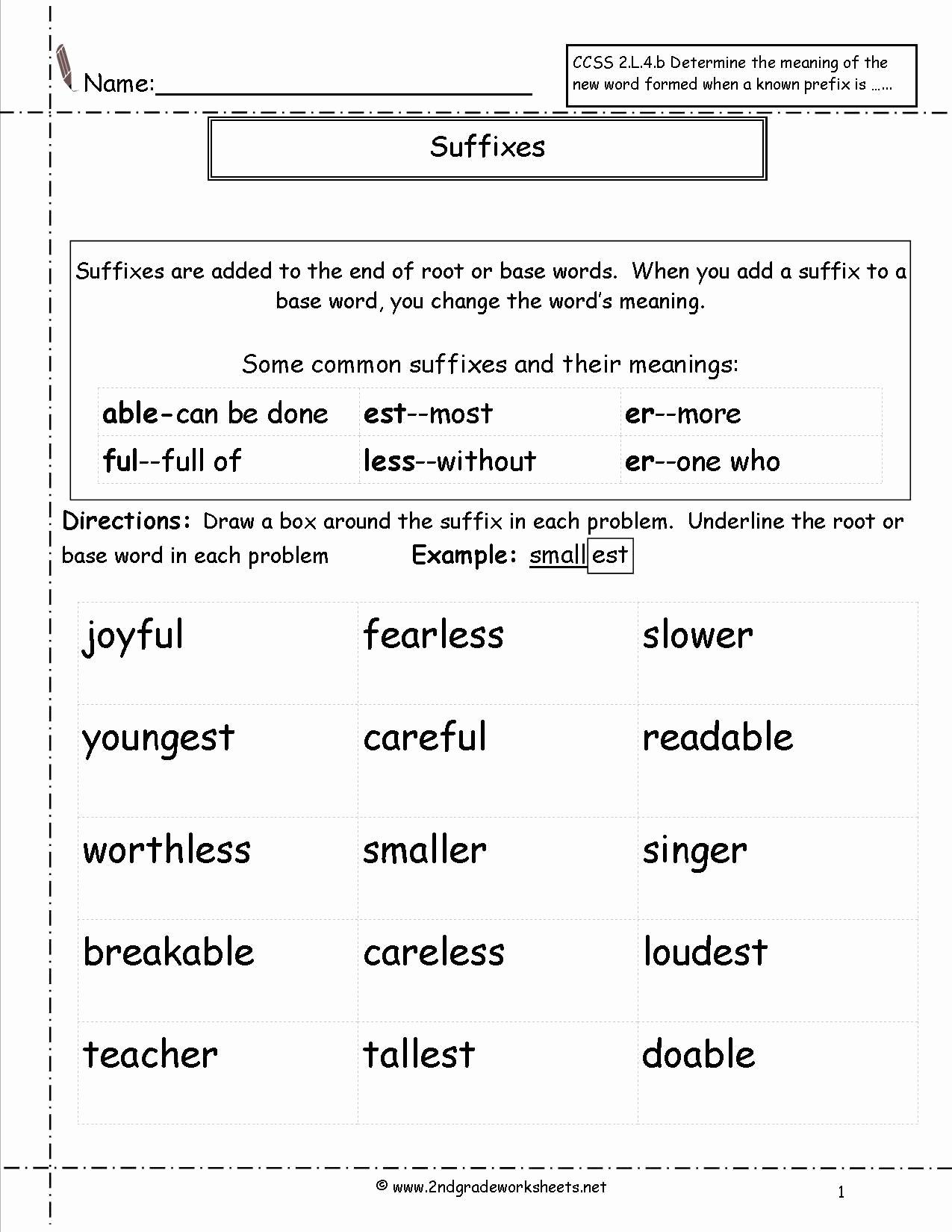 Prefix Suffix Worksheets 3rd Grade Luxury 20 Prefix Suffix Worksheet 3rd Grade