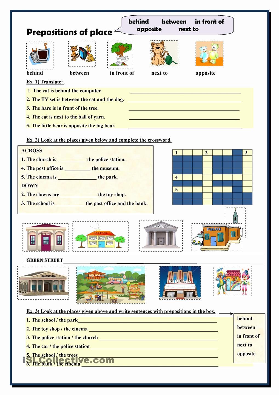 Preposition Worksheets Middle School Luxury Preposition Worksheets for Middle School