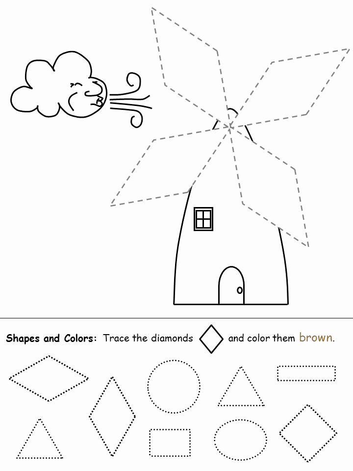 Preschool Diamond Shape Worksheets Best Of 19 Best Images About Preschool Diamonds On Pinterest