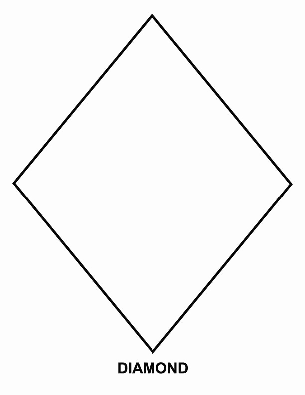 Preschool Diamond Shape Worksheets Best Of Diamond Coloring Page