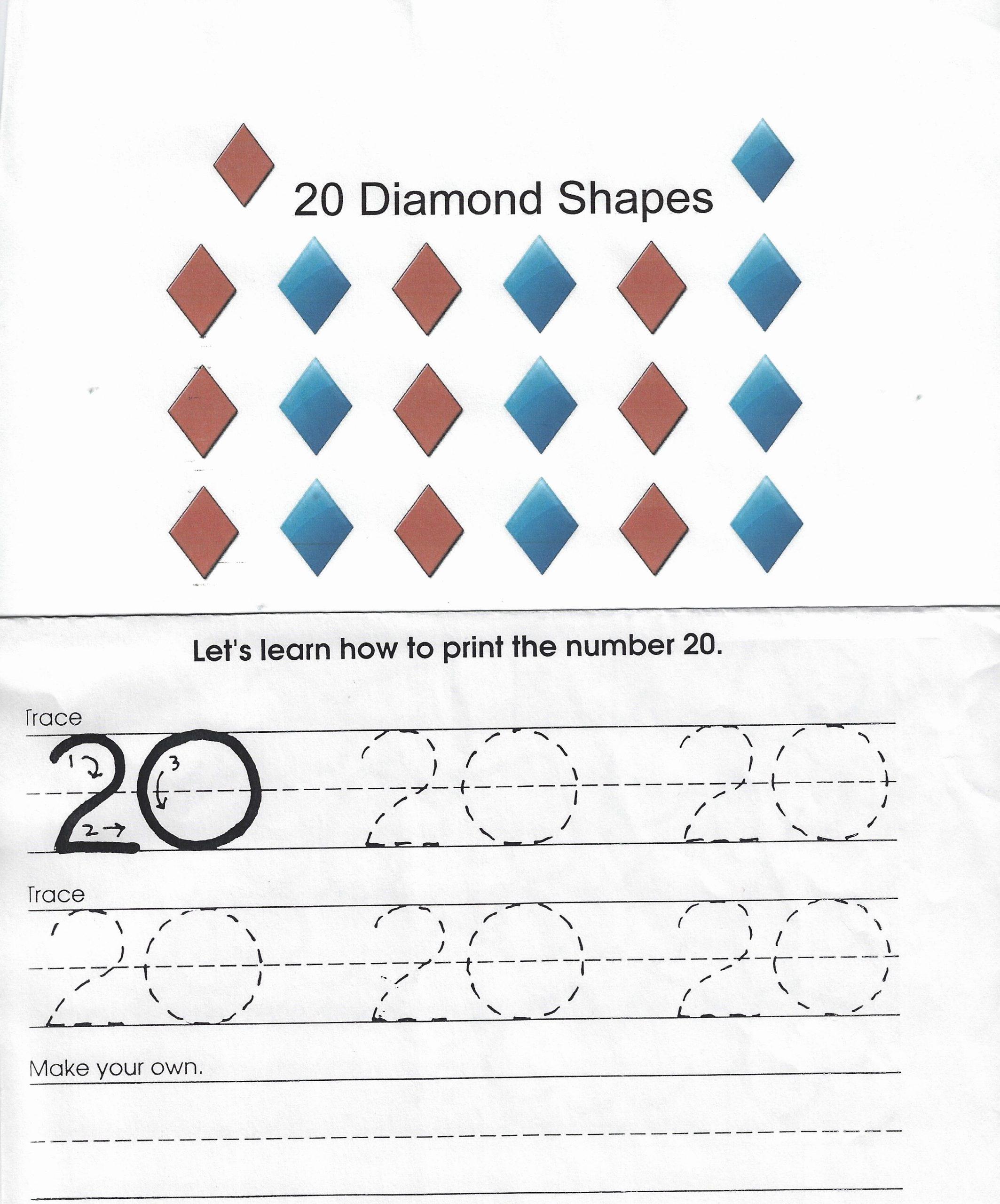 Preschool Diamond Shape Worksheets Elegant Pin by Guylaine Labbe On Shapes for Preschool