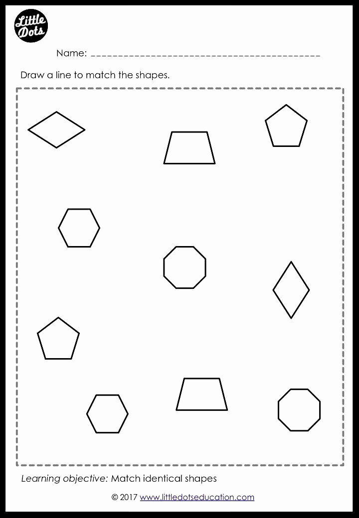 Preschool Diamond Shape Worksheets Fresh Diamond Worksheet for Preschool Preschool Shapes Matching