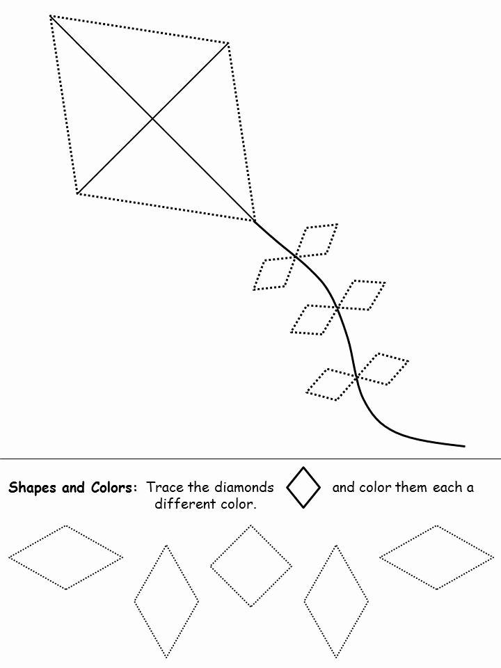 Preschool Diamond Shape Worksheets Lovely Shapes Recognition Practice Worksheet Diamond