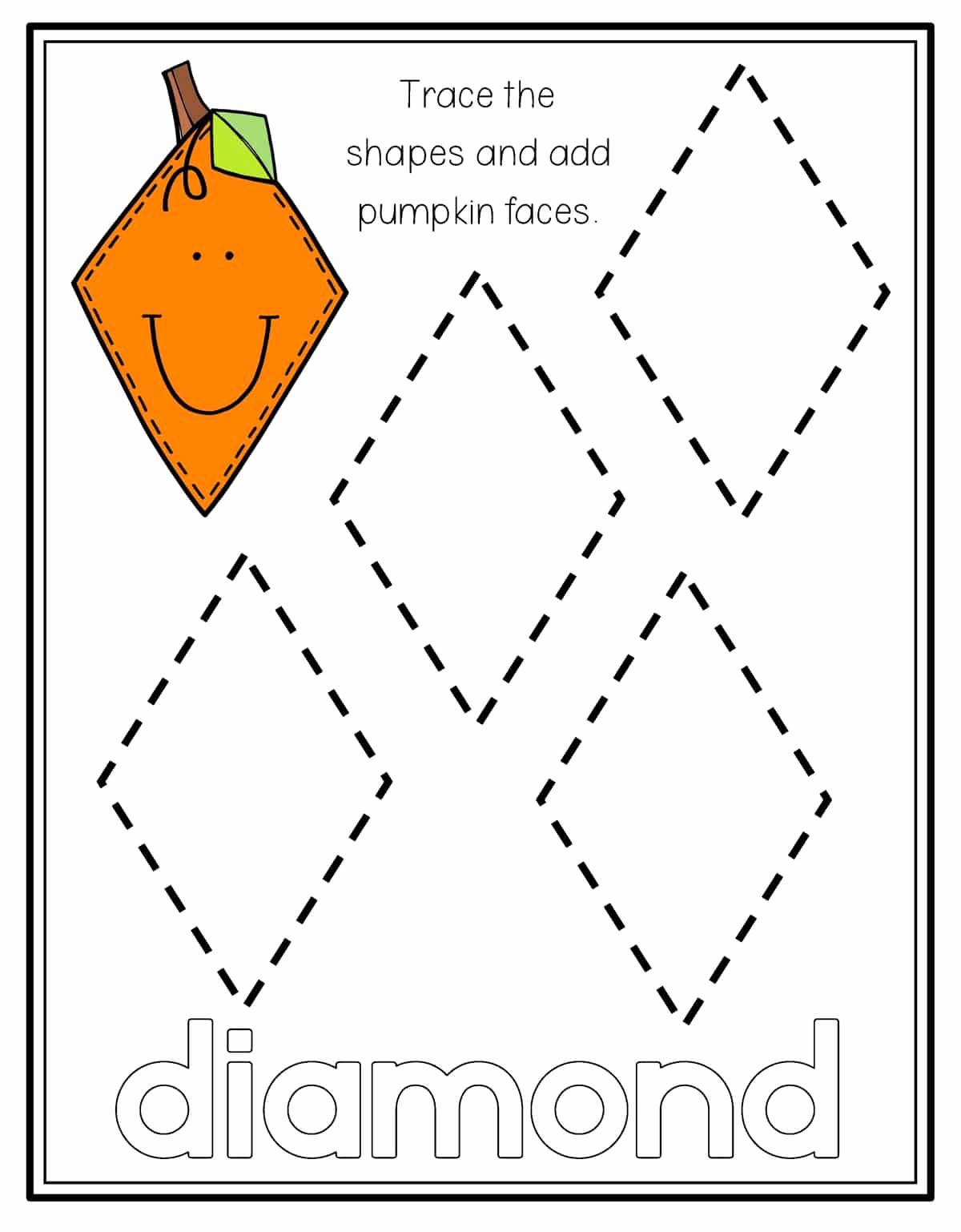 Preschool Diamond Shape Worksheets New Diamond Worksheet