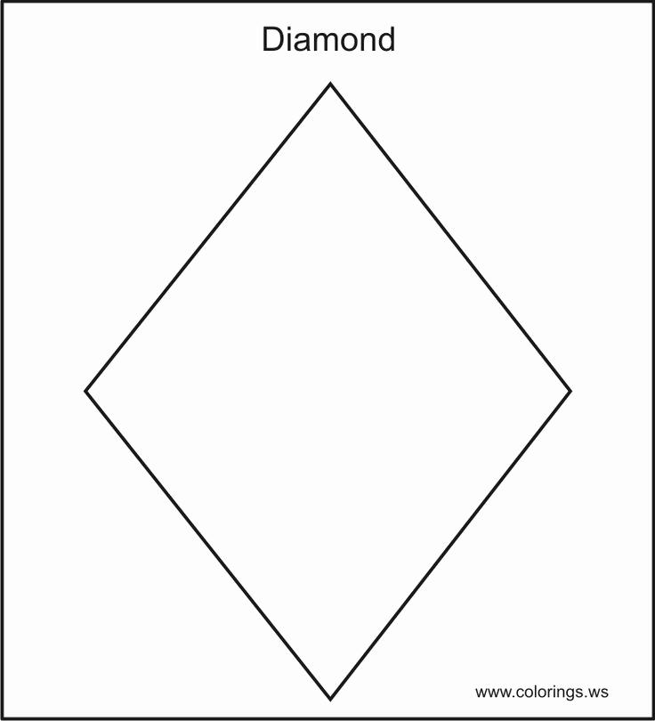Preschool Diamond Shape Worksheets Unique Image Result for Diamond Shape Coloring Pages for
