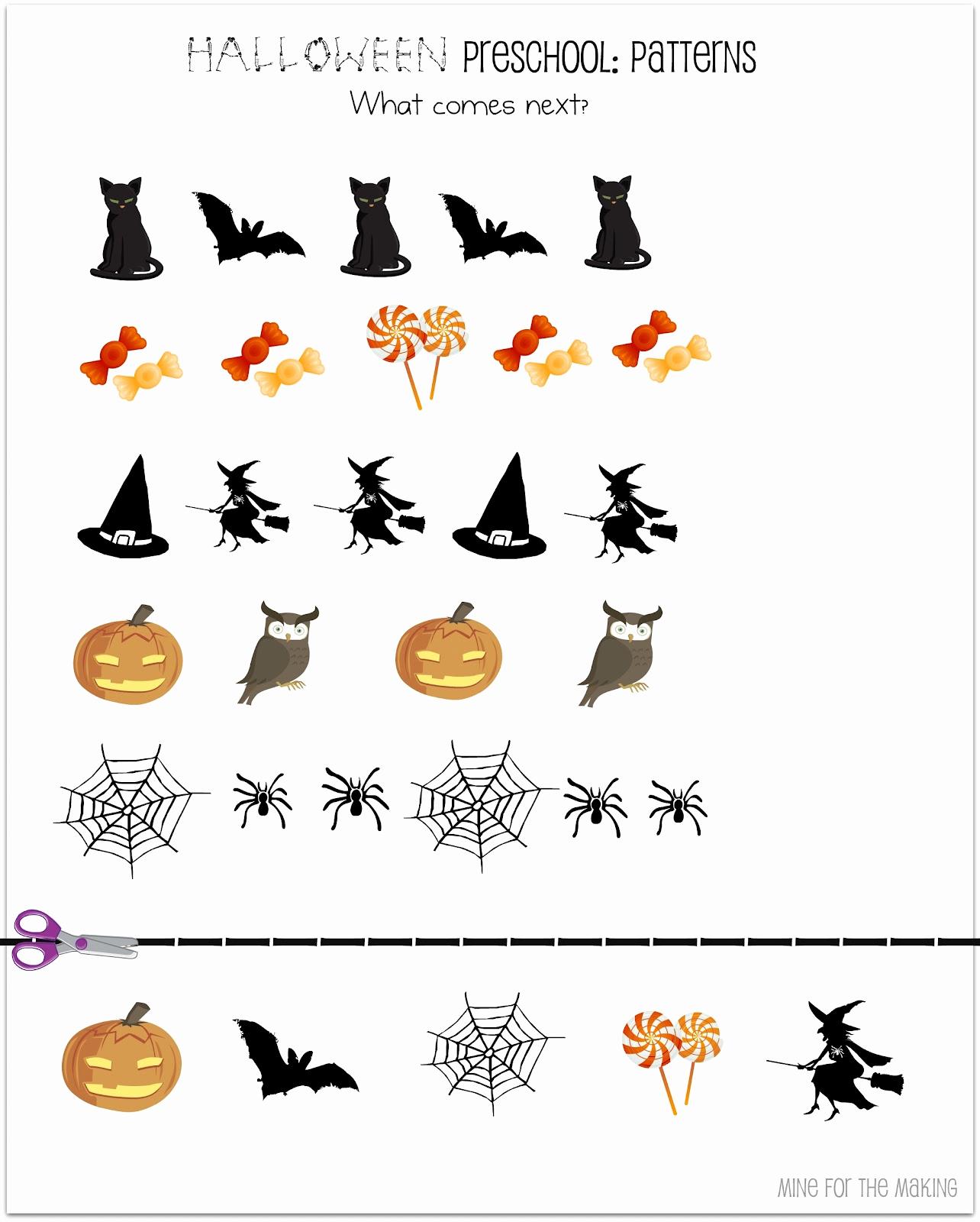 Preschool Halloween Worksheets Free Best Of Halloween Week Halloween Preschool Printables Mine for