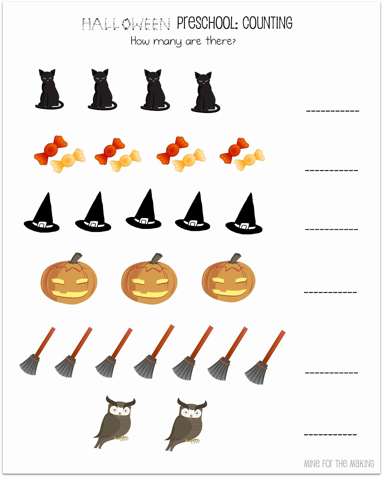 Preschool Halloween Worksheets Free Elegant Halloween Week Halloween Preschool Printables Mine for
