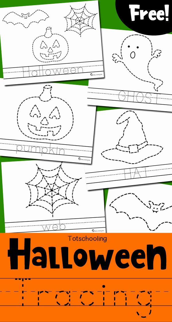 Preschool Halloween Worksheets Free Lovely Halloween Tracing Worksheets