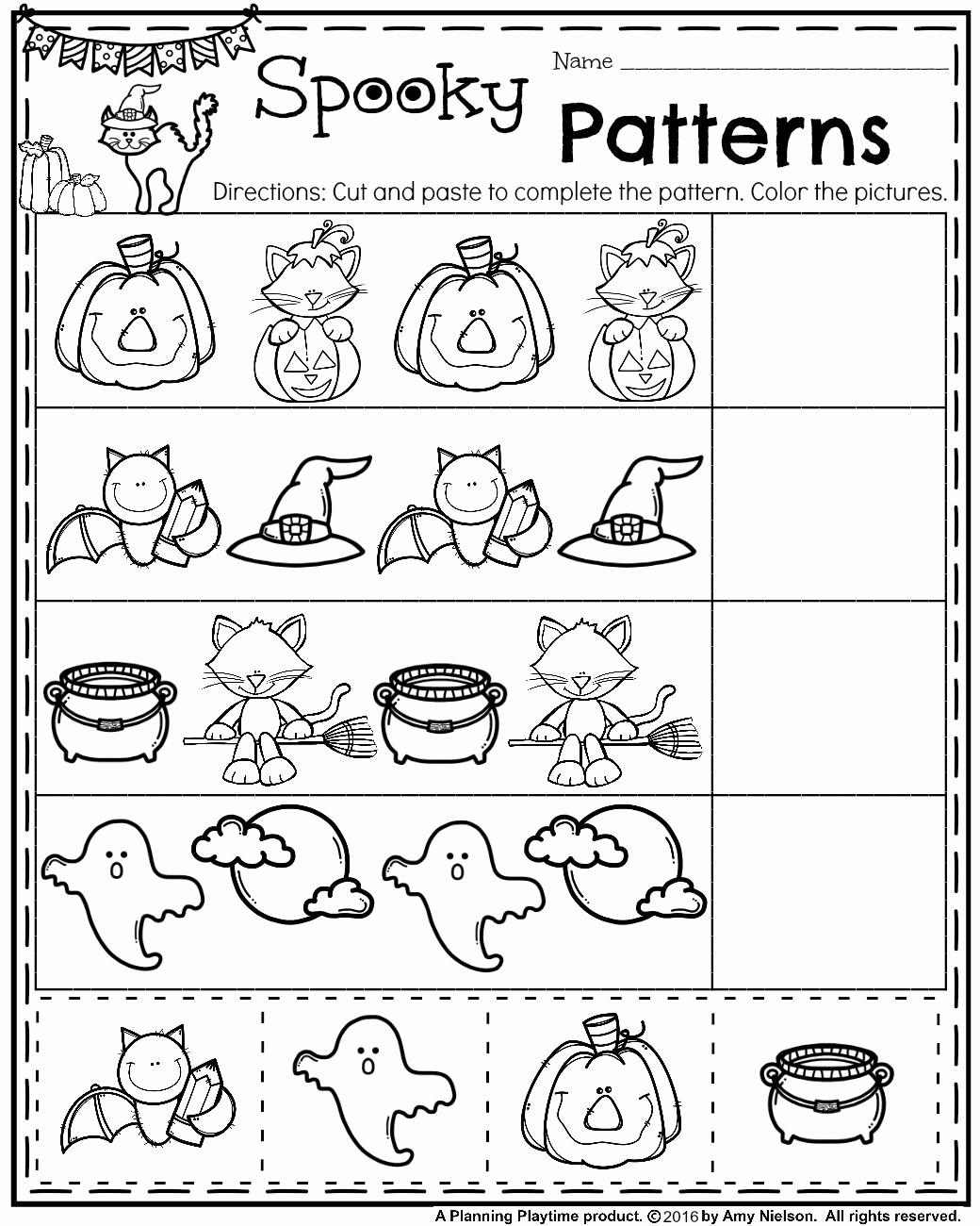 Preschool Halloween Worksheets Free Luxury Halloween Printable Worksheets for Preschoolers Coloring