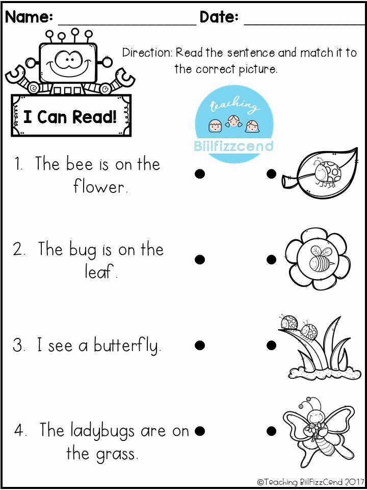 Preschool Reading Comprehension Worksheets Beautiful Reading Prehension Check for Preschool Kindergarten