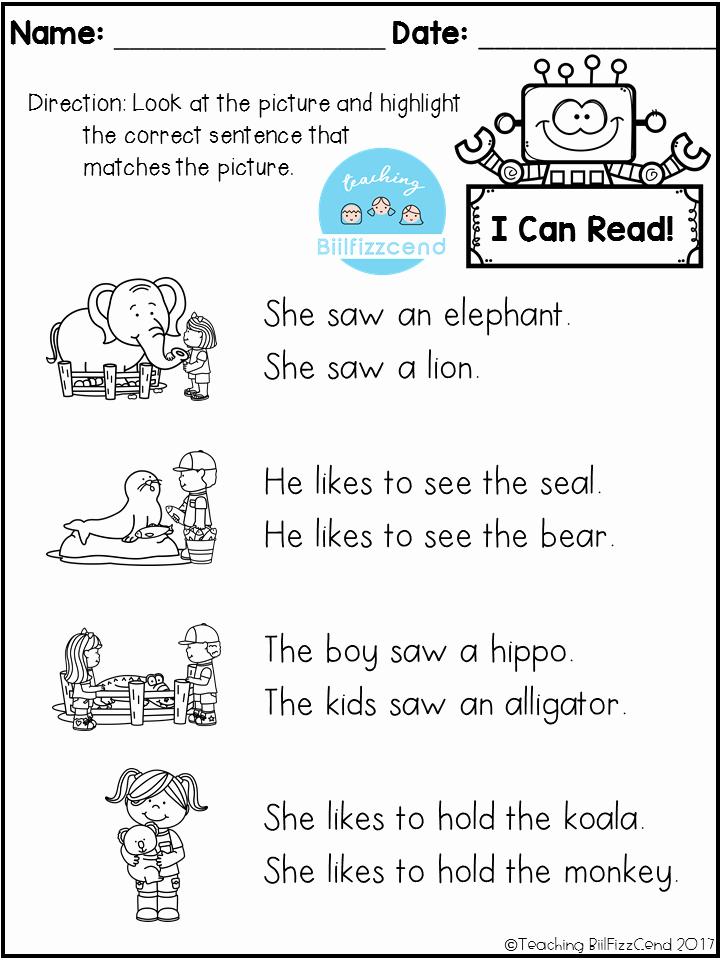 Preschool Reading Comprehension Worksheets Luxury Free Reading Prehension Check