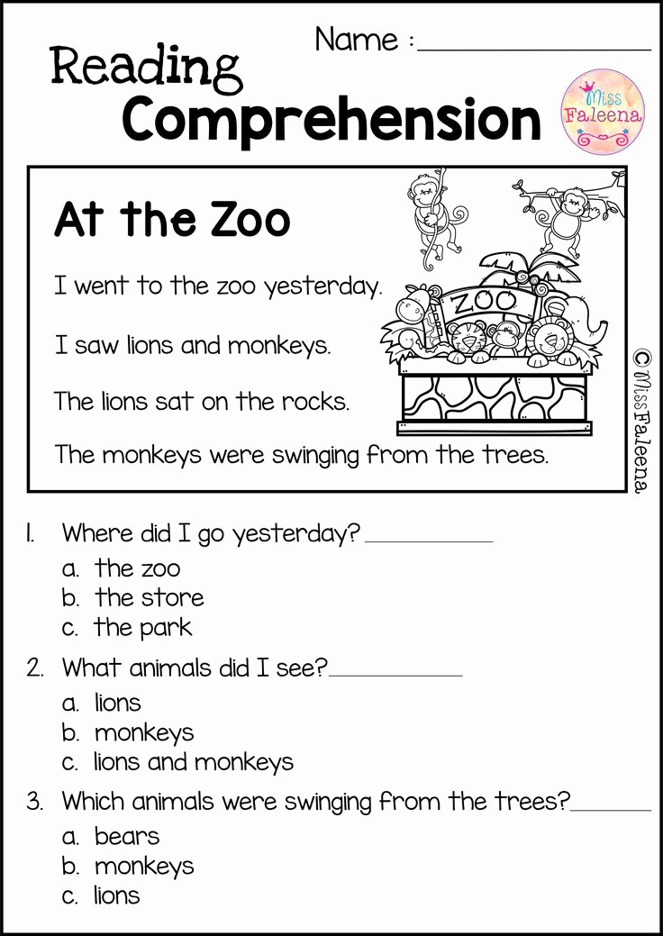 Preschool Reading Comprehension Worksheets New Reading Prehension Set 2 with Images