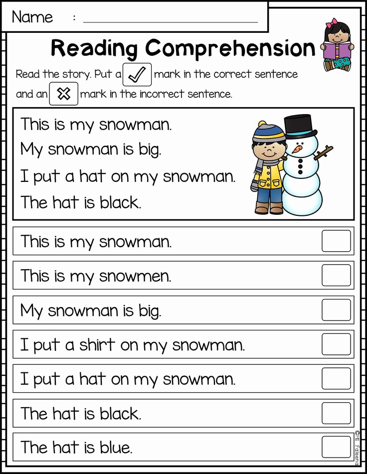 Preschool Reading Comprehension Worksheets Unique Best First Grade Literacy Images On Pinterest