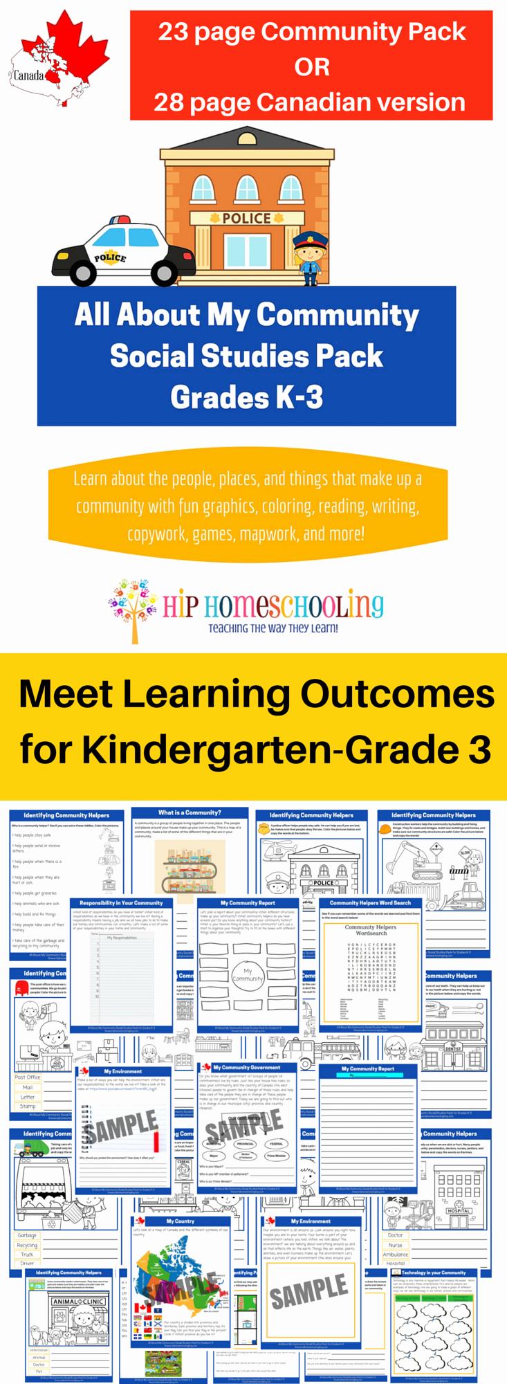 Preschool social Studies Worksheets Awesome social Stu S K 3 Printable Pack Meet Learning Out Es