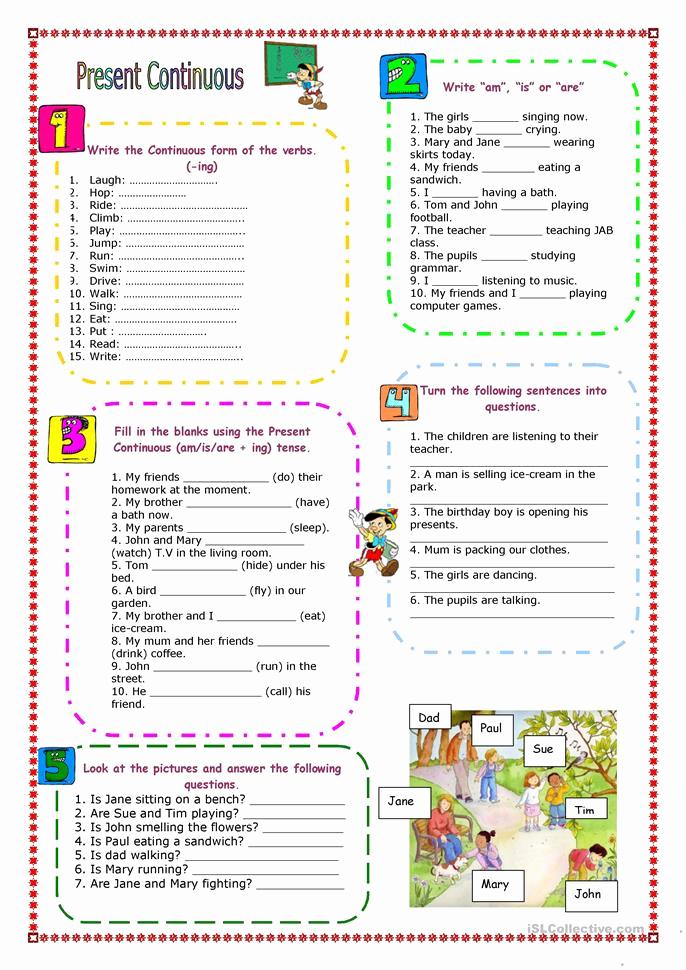 Present Progressive Worksheets Best Of Present Progressive Tense Worksheets for High School