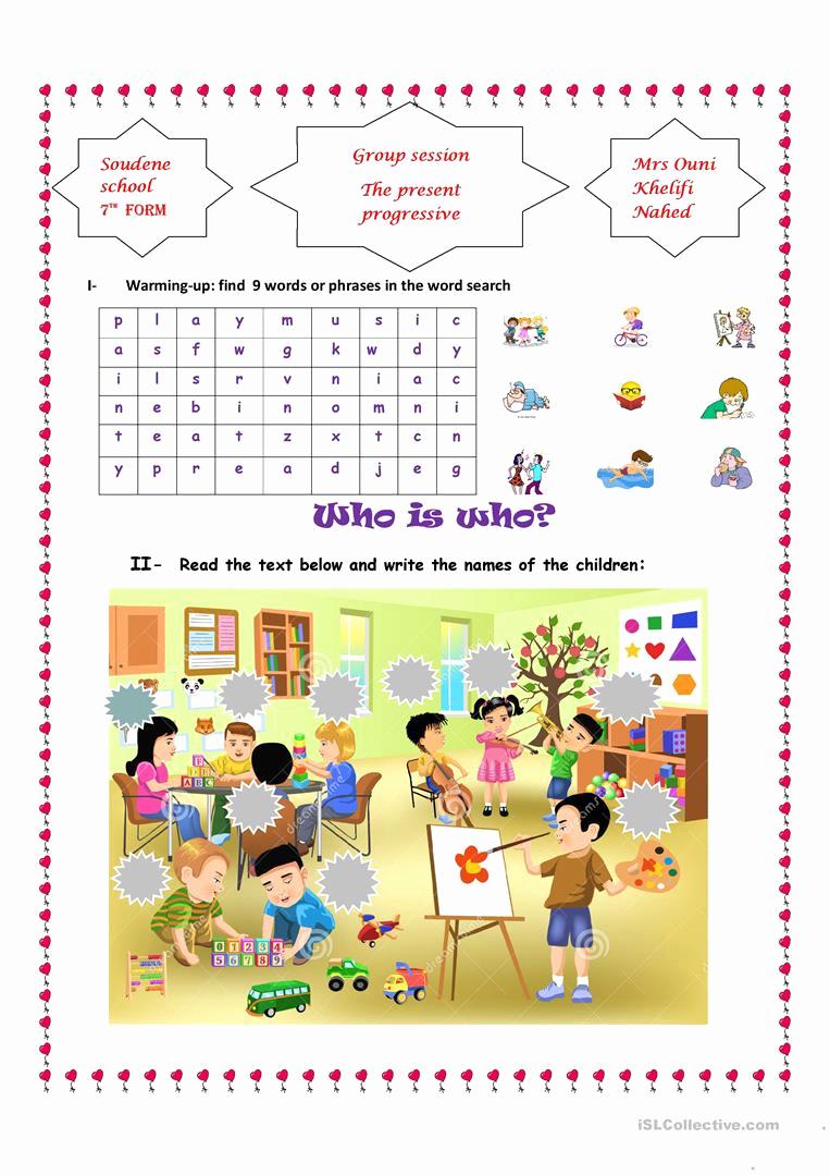 Present Progressive Worksheets Fresh the Present Progressive Tense English Esl Worksheets for