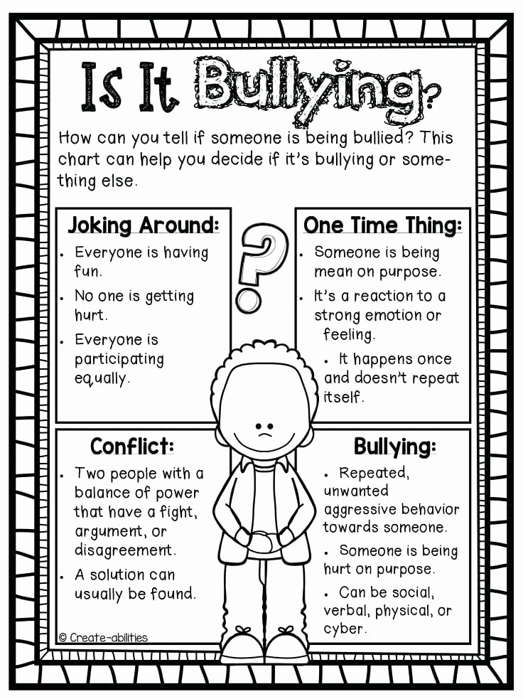Printable Bullying Worksheets Best Of Anti Bullying Worksheets for Elementary