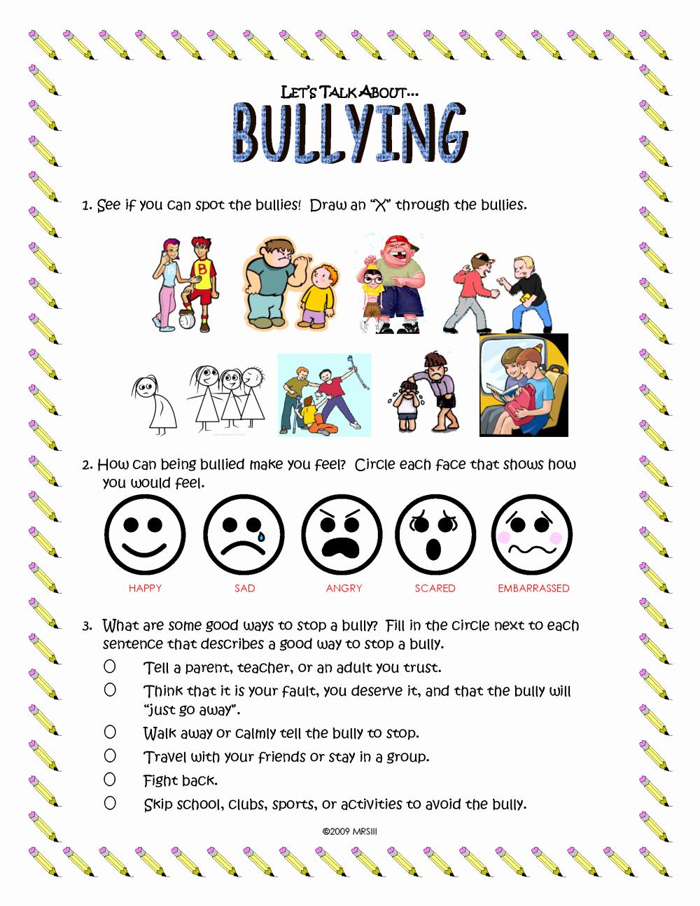 Printable Bullying Worksheets Elegant Mason R Shepherd Iii Electronic Portfolio