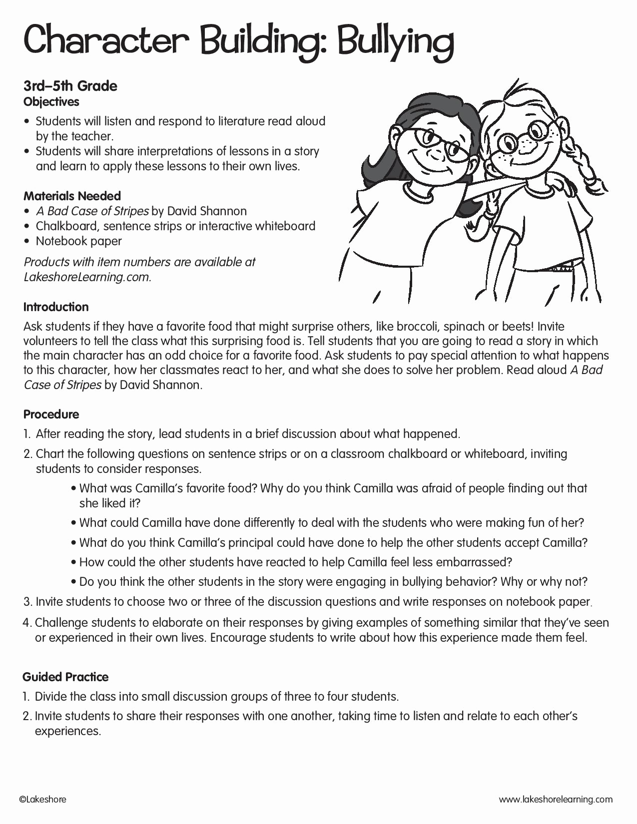 Printable Bullying Worksheets Lovely Character Building Bullying Lessonplan