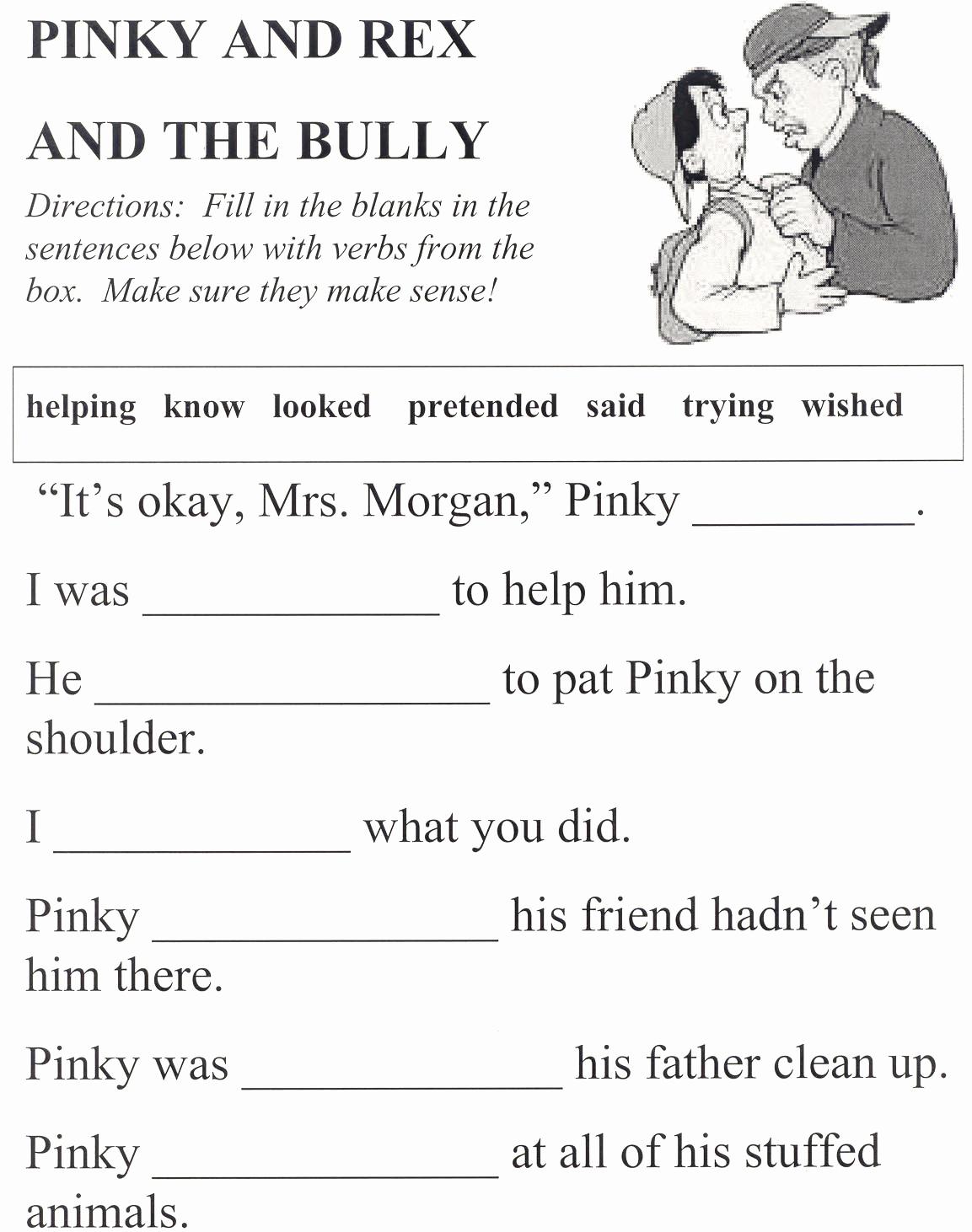 Printable Bullying Worksheets Lovely Printables Anti Bullying Worksheets Kigose Thousands