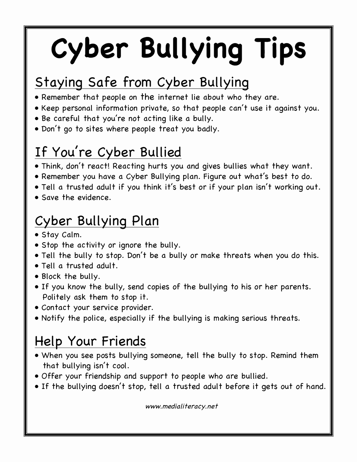 Printable Bullying Worksheets Unique 17 Best Of Cyberbullying Movie Worksheets